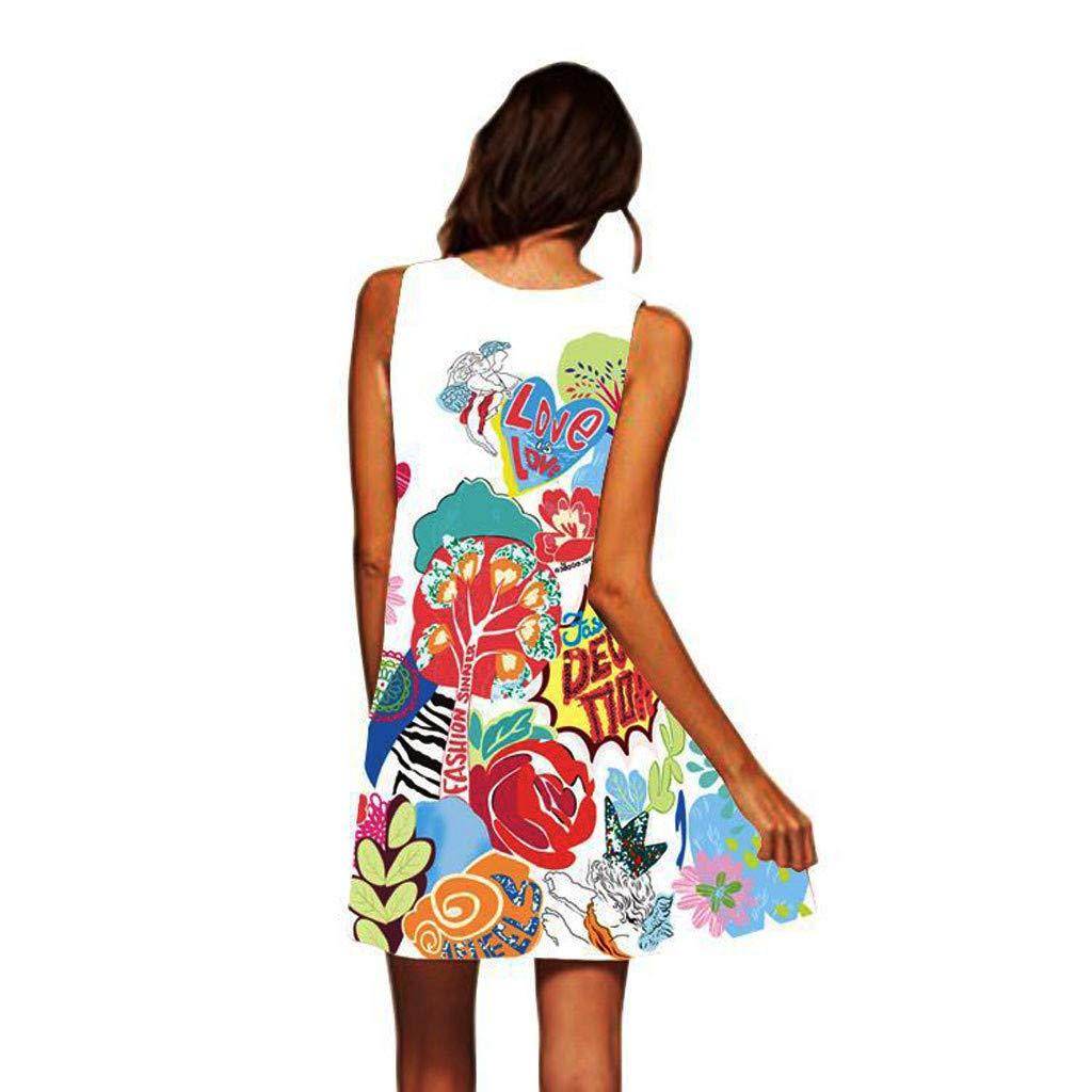 Vestidos Mujer,Wave166 Vestido de la Vendimia Boho de la Impresión ...