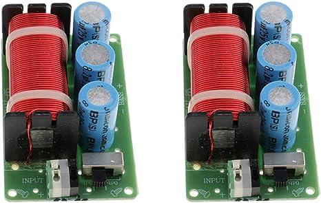 Baoblaze 2 Unids Divisores de Frecuencia Filtro de Audio Cruce de Altavoz Repuestos para Altavoces
