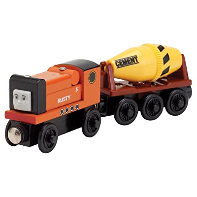 Thomas & Friends Wooden Railway- Rusty with Cement Mixer: Toys & Games