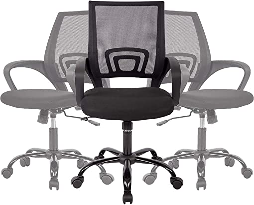 Office Chair Desk Chair Mesh Computer Chair Back Support Modern Executive Adjustable Arms Rolling Swivel Chair