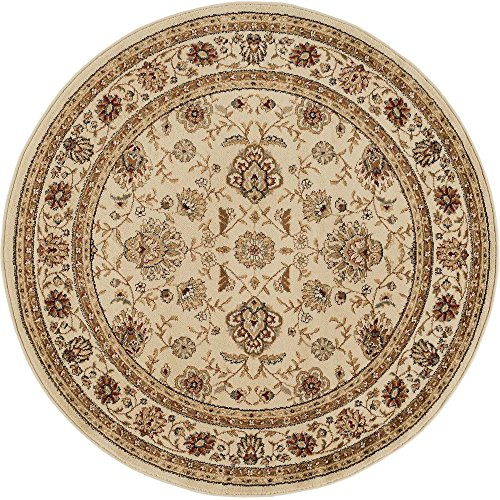 Amazon Com Raleigh Traditional Floral Beige Round Area Rug 5