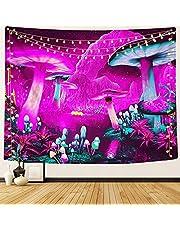 DIOVMA Psychedelic Mushroom Tapestry Fantasy Tapestry for Bedroom Wall Hanging Tapestry Wall Decor for Room