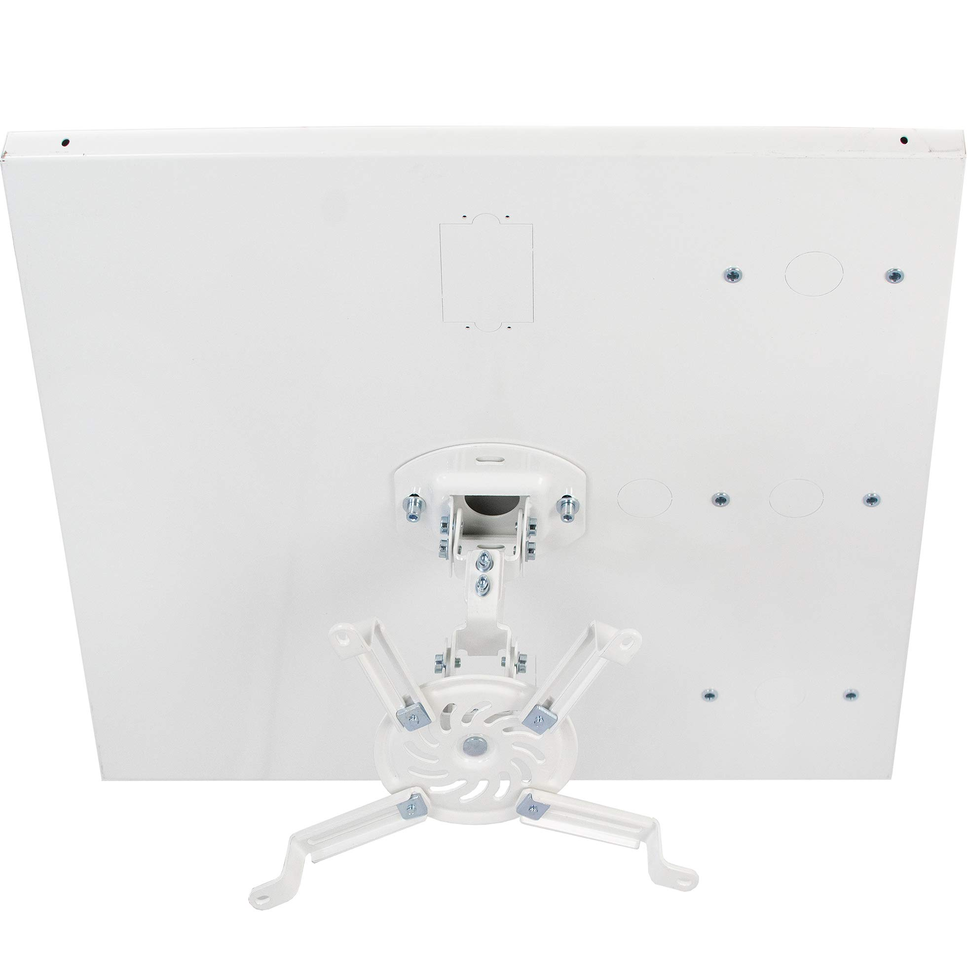 VIVO Universal White Adjustable 2 x 2 feet Drop Ceiling Projector Mount | Suspended Drop-in Ceiling Projection Mounting Kit (MOUNT-VP07DP) by VIVO