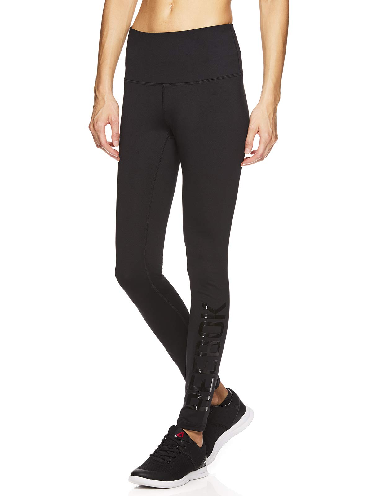 Reebok Women's Leggings Full Length Performance Compression Pants - Athletic Workout Leggings for Women for Gym & Sports - Respect Black, Small by Reebok