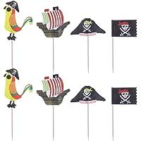 SUPVOX 48 piezas de pastel de pirata toppers