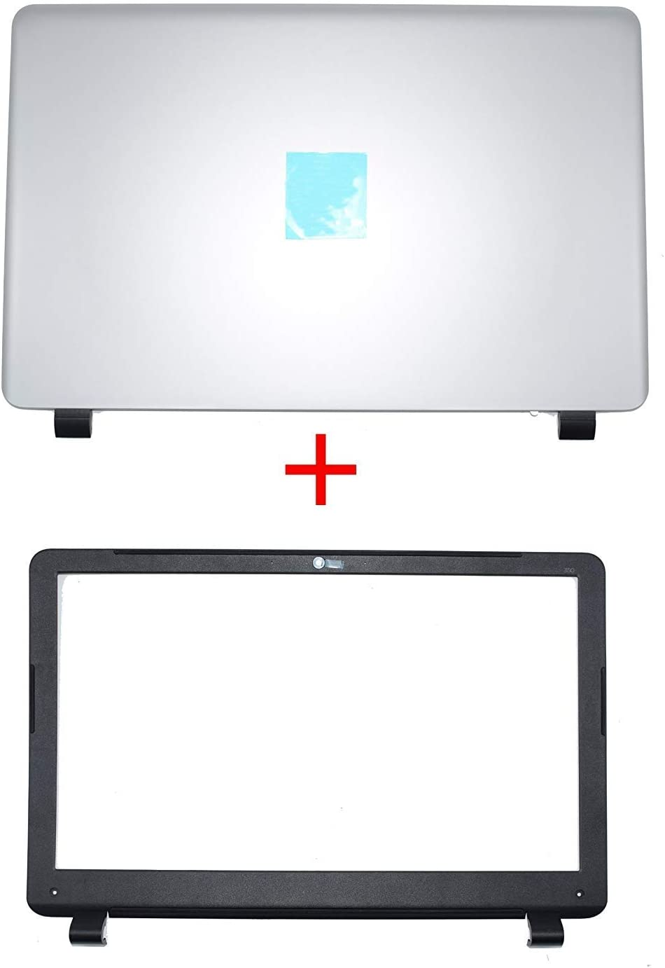 Compatible Replacement for HP 350 G1 LCD Rear Cover Screen Lid Top Shell & Front Frame LCD Bezel with Camera Hole 758057-001 758055-001