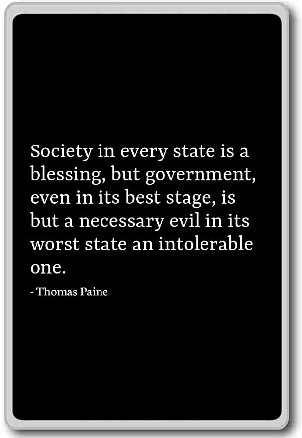 state is a necessary evil