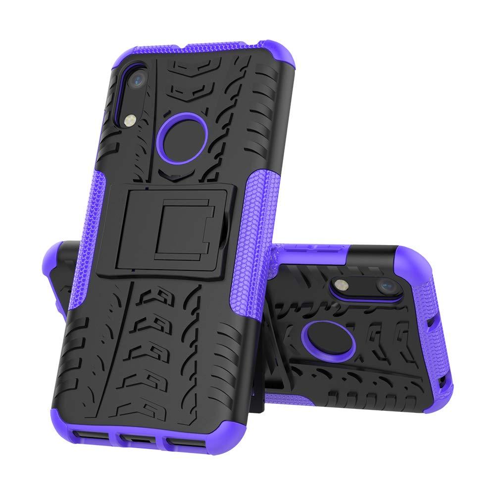 MRSTER 2 in 1 per Huawei Y6 2019 // Honor 8A. Motivo Pneumatico Custodia per Huawei Y6 2019 Ammortizzante Resistente con cavalletto Staccabile Protezione Estrema