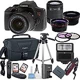 Canon EOS Rebel T6i Digital SLR Camera w/ EF-S 18-55mmBundle includes Camera, Lenses, Filters, Bag, Memory Cards, Tripod, Flash, Remote Shutter& More - International Version