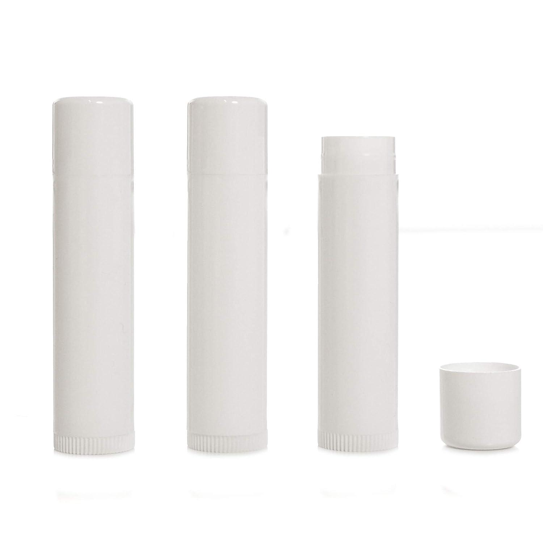 Milliard Lip Balm Crafting Tube Refills -BPA Free- 100 Pack - White