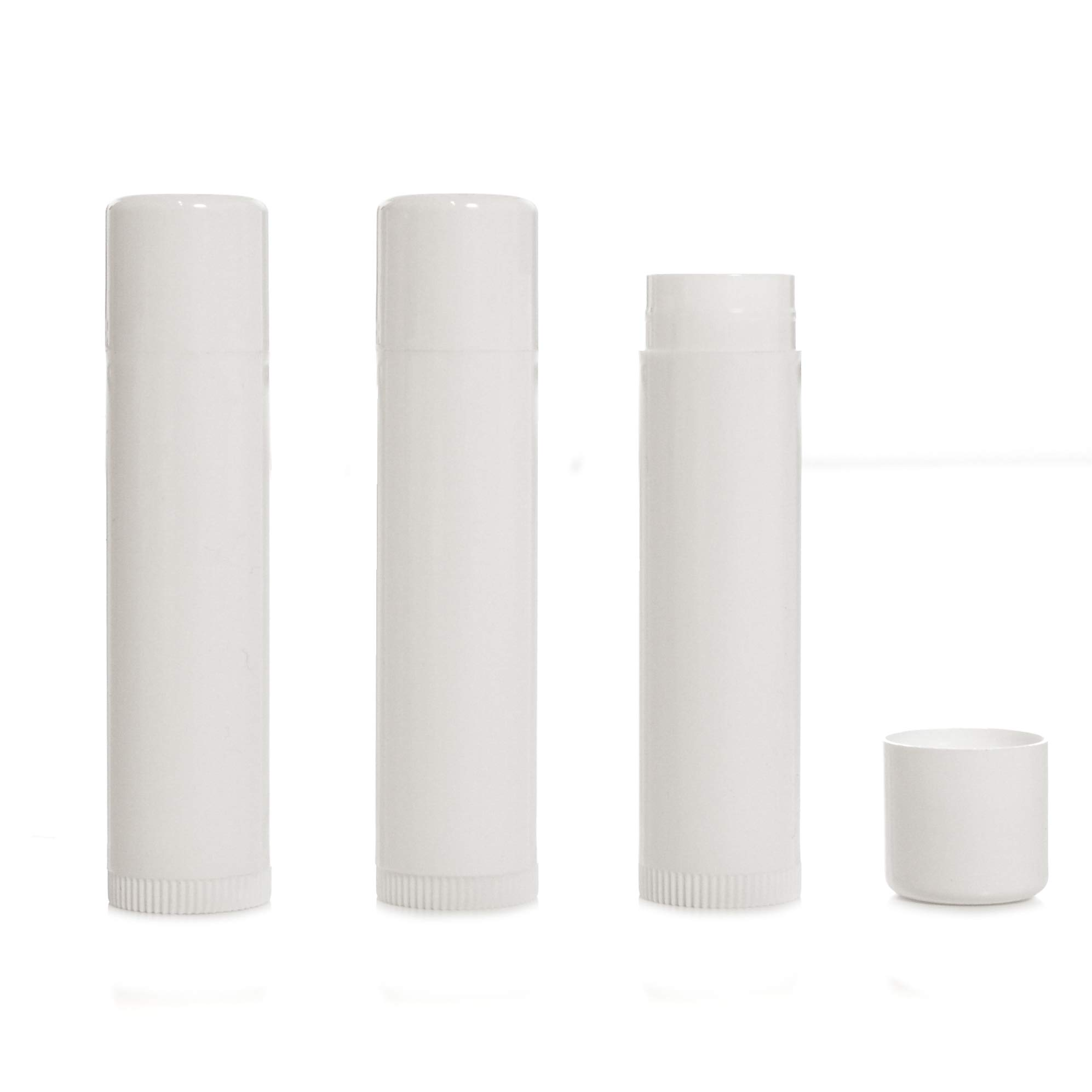 Milliard Lip Balm Crafting Tube Refills -BPA Free- 100 Pack - White by Milliard
