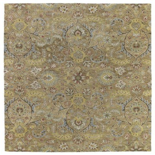 Kaleen 3200-05-810 Helena Collection Hand Tufted Area Rug, 8' x 10', Gold