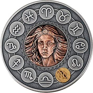 Power Coin Virgo Zodiac Signs 1 Oz Moneda Plata 1$ Niue 2019 ...
