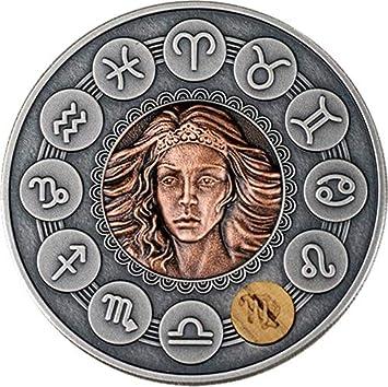 Power Coin Virgo Zodiac Signs 1 Oz Moneda Plata 1$ Niue 2019 ...