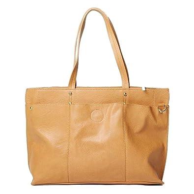 0dbebc18b30d9 Ex Dorothy Perkins Brown Tan Large Leather Shoulder Handbag Shopper Tote Bag  (One size only