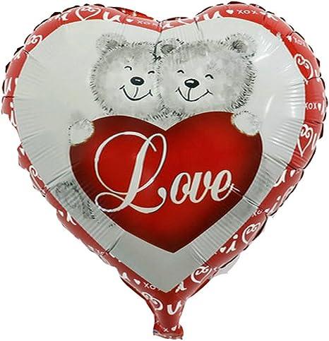 Globo Balón hinchable Corazón Love Amor San Valentín Día osos ...