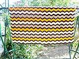handmade blanket, crochet blanket, V stich ripple crochet blanket, handmade blanket, crochet quilt, multicolor blanket