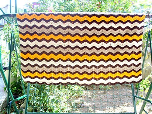 handmade blanket, crochet blanket, V stich ripple crochet blanket, handmade blanket, crochet quilt, multicolor blanket by crochets4world