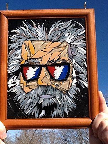 Jerry Garcia Stained Glass Window Art Sun Catcher, Grateful Dead by Mountain Mosaics