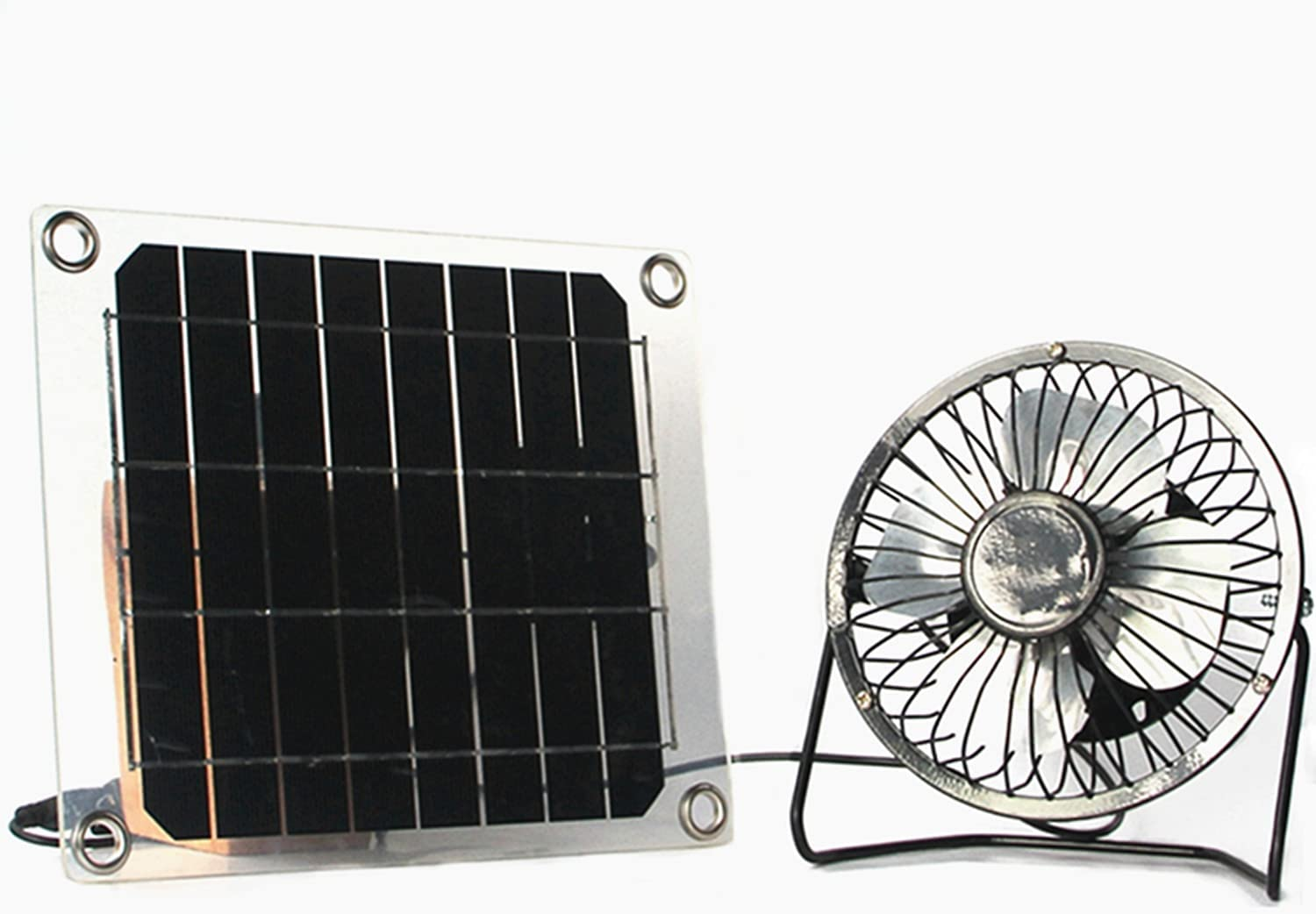Solar fan 5W 4 inch mini ventilator for Greenhouse motorhome House Chicken House outdoor Home cooling doge Cat bird