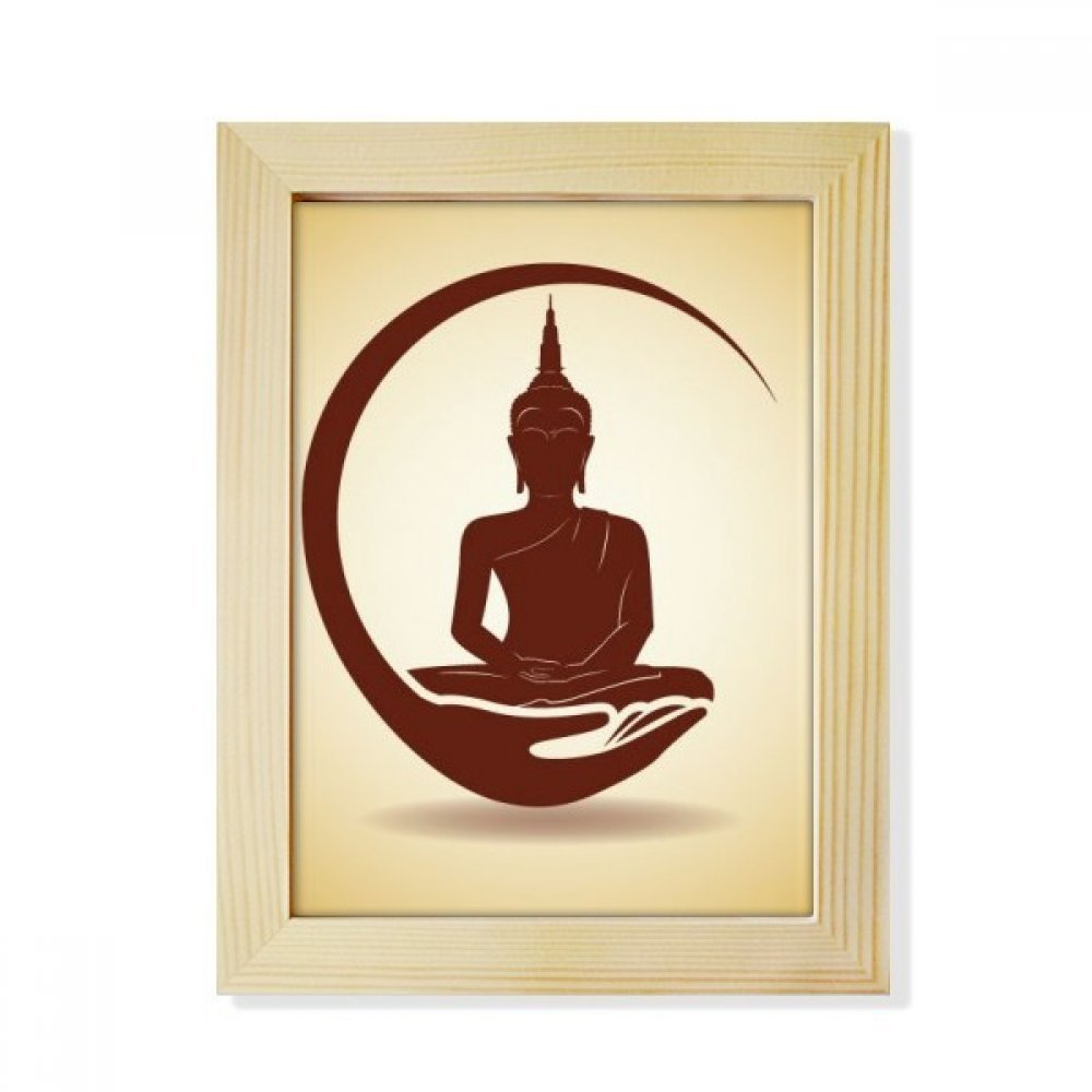 DIYthinker Thailand Buddha Moon Art Illustration Desktop Wooden Photo Frame Picture Art Painting 6x8 inch by DIYthinker