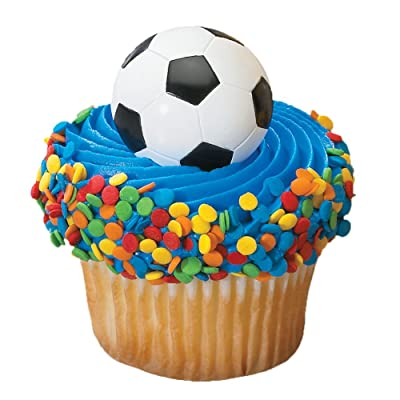 DecoPac 3D Soccer Ball Cupcake Rings 12 Count: Toys & Games