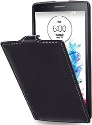 StilGut® UltraSlim Case, custodia in pelle per LG G3S, Nero Nappa
