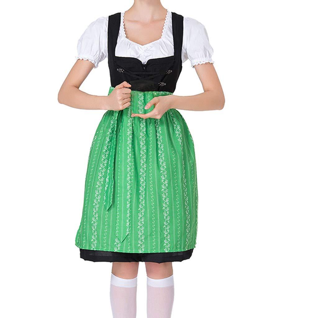 Women's Cosplay Costumes, ✔ Hypothesis_X ☎ Beer Festival Dress Bavarian Beer Festival Beach Mini Dress Green
