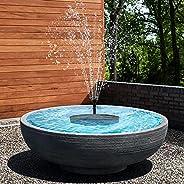 Riastvy Fonte de água solar de LED para banho de pássaros com 4 bocais, fonte alimentada por energia solar, pa