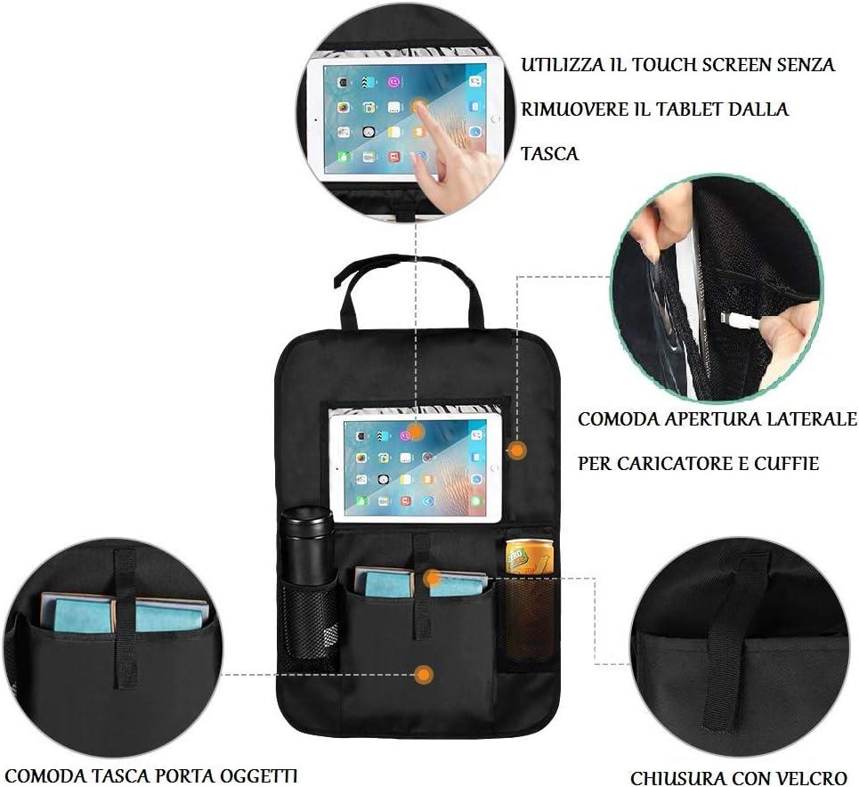 FAnet 2 Pack Kick Mats de Coche Organizador para Asientos de Coches Universal Multi-Bolsillo Protector Trasero del Asiento de Coche para Ni/ños Organizadores para Coche