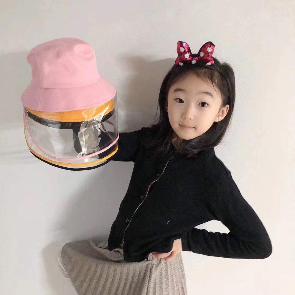 Alljoin Protective Facial Mask-Removable Safety Face Shield Anti-Spitting Splash Hat Isolation Anti-Pollution Hat