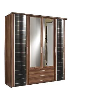 Ahoc Yvonne Effet Noyer Allemand 4 5 Portes Miroir Miroir De Chambre