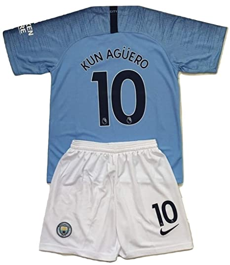 huge selection of 7a333 b1602 Amazon.com : Anelia-Jerseys Kun Aguero #10 Manchester City ...