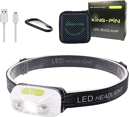 COB LED Kopflampe Stirnlampe Headlampe Headlight Lampen Kopflampe mit USB Kabel