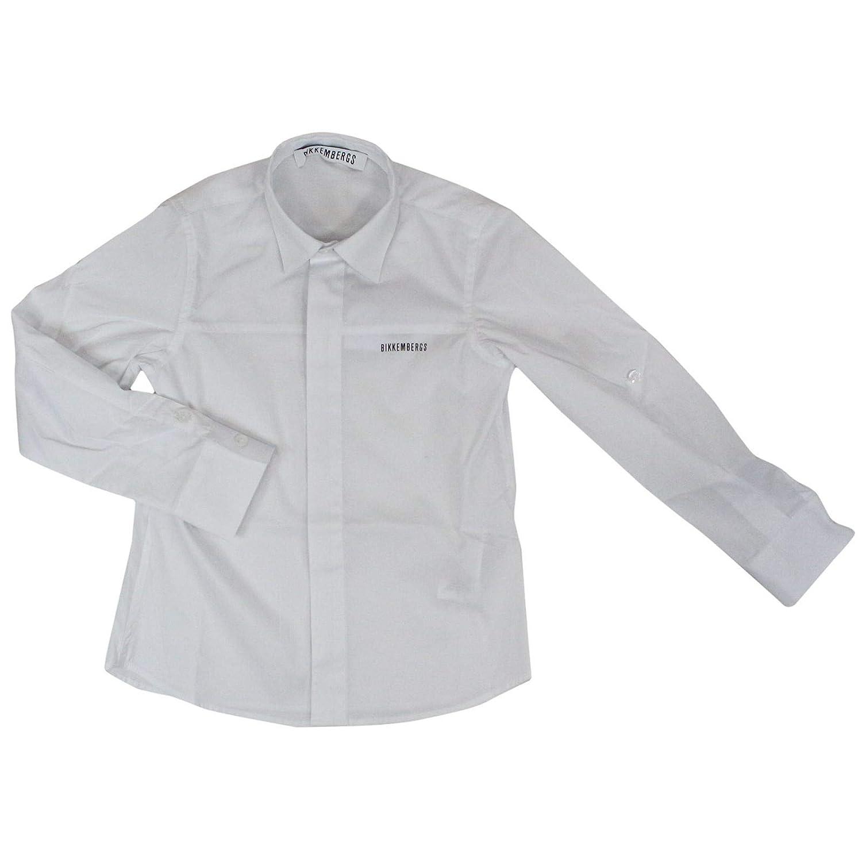 Taille Fabricant 16yrs Bikkembergs Garçon 240101 Blanc Coton Chemise