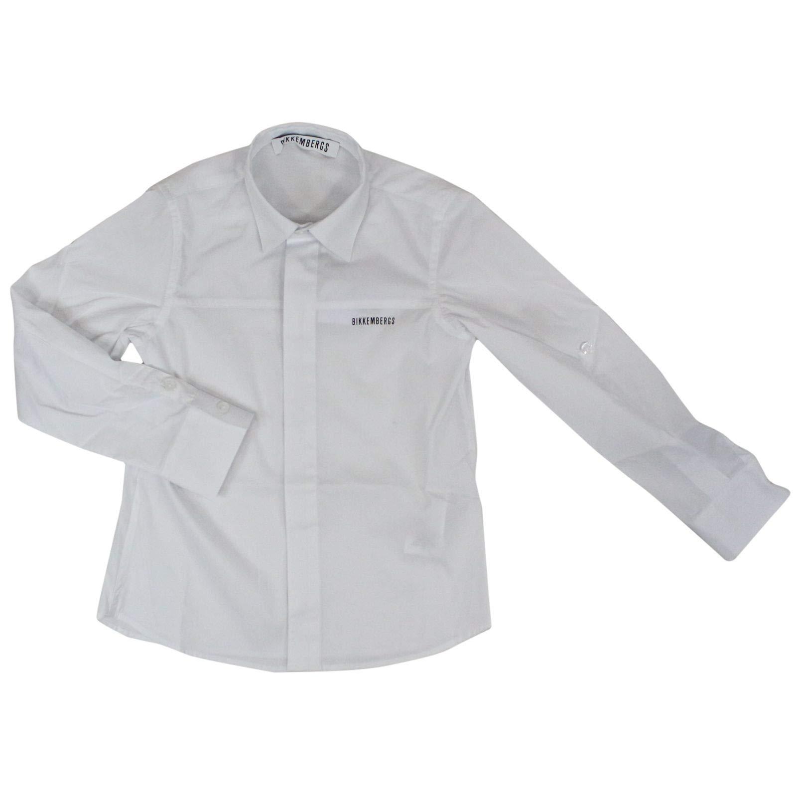 Bikkembergs Luxury Fashion Boys Shirt Summer White