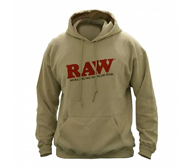 Raw Organic Tan Pullover Hoodie at Amazon Men's Clothing store: