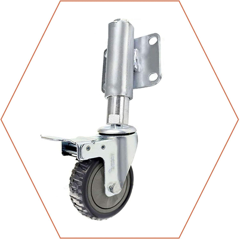 Heavy Duty Metal Swivel Castors with Brakes Polyurethane Trolley Wheels for Furniture 100mm GDHY Caster Wheels Spring Gate Wheels