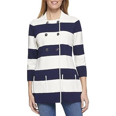 604b428d073 Tommy Hilfiger Womens Knit Colorblock Jacket White XS  Amazon.co.uk   Clothing