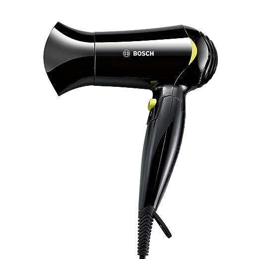 50 opinioni per Bosch PHD1151 Style To Go Asciugacapelli, 1200 W, Nero/Giallo