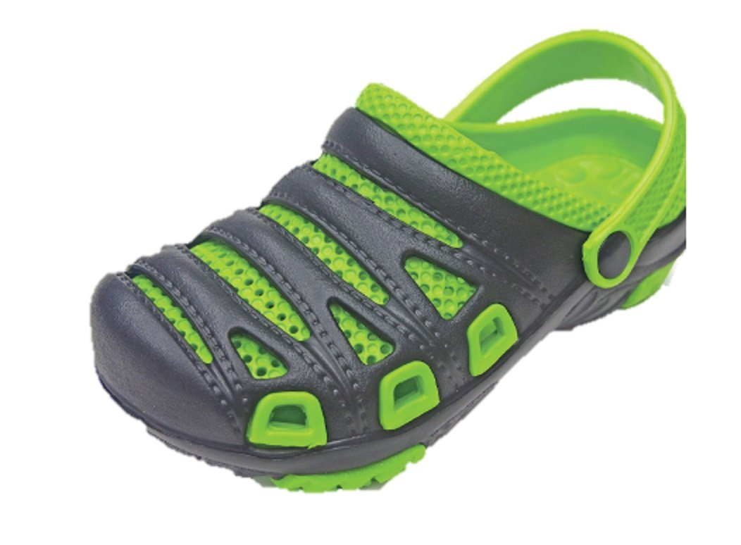 Royal Deluxe Two Tone All Weather Sneaker Clogs, Children's (3, Green)