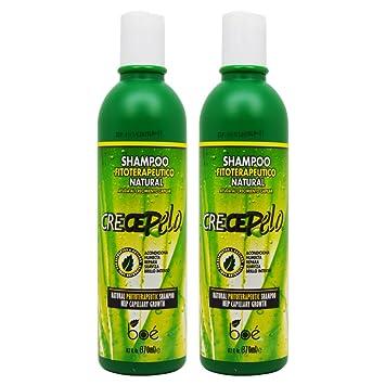 """BOE Crece Pelo Shampoo Fitoterapeutico Natural (Natural Phitoterapeutic Shampoo) 13.2oz """"Pack"""