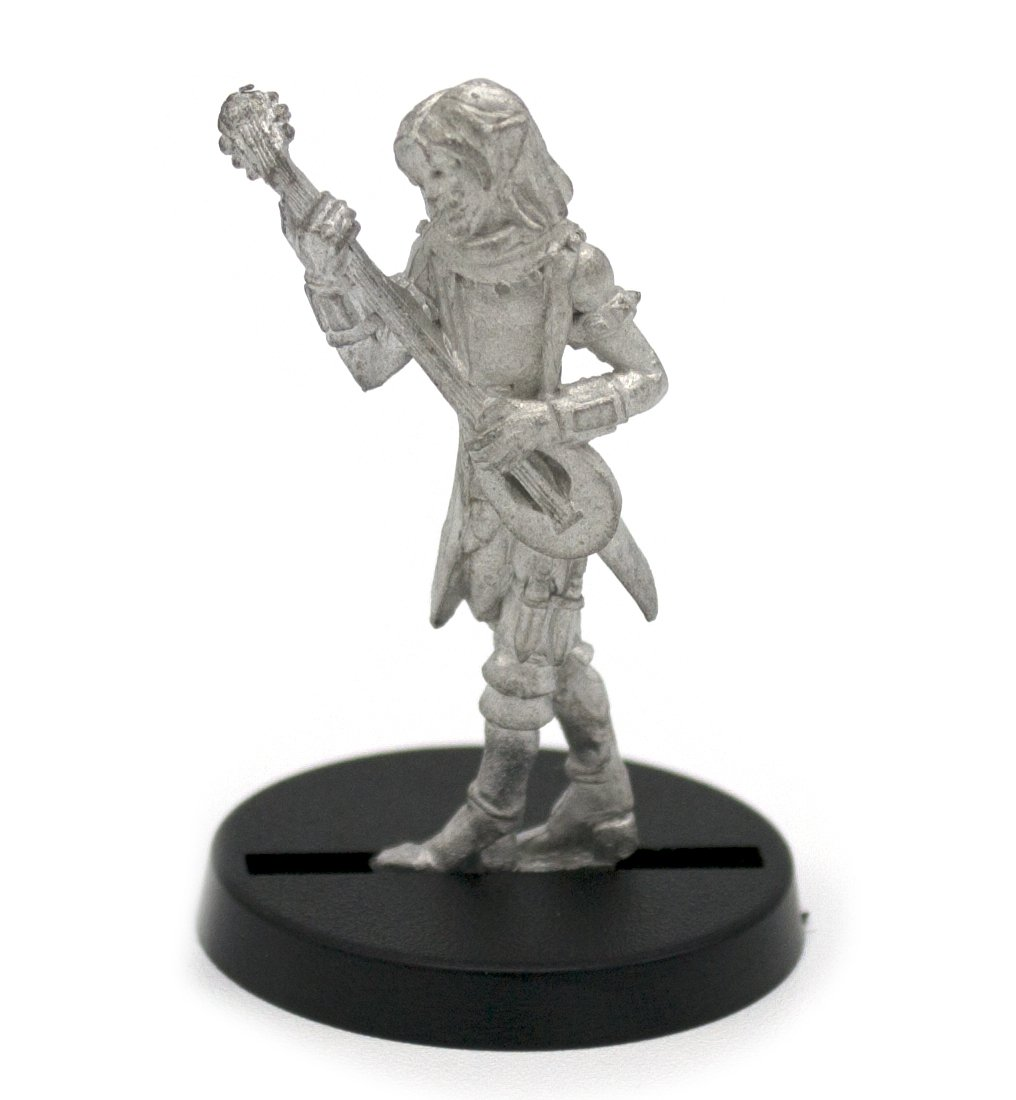 Stonehaven Elf Bard Miniature Figure (for 28mm Scale Table Top War Games) -  Made in USA
