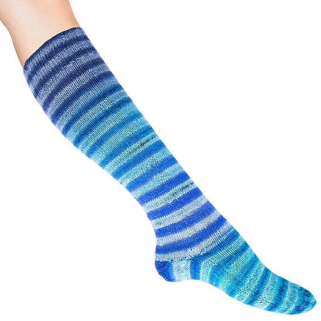 Uneek Sock Knitting Kit Turquoise, Blue, Navy #64