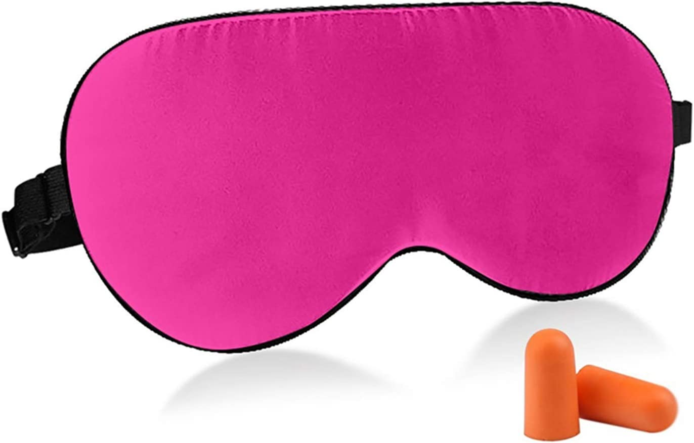 Fitglam Natural Silk Sleep Mask, Cute Sleeping Mask Eye Mask Eye Cover for Travel, Nap, and Meditation, Blindfold with Adjustable Strap for Men, Women, and Kids: Health & Personal Care