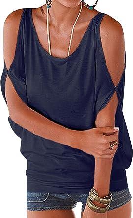Camisetas Manga Corta Cuello Redondo Anchas Mujer Blusas Elegantes Camiseta Largas Chica Camisas Dama Fiesta Señora Blusa Camisa Verano Remeras Blusones Top Casual Personalizadas: Amazon.es: Ropa y accesorios