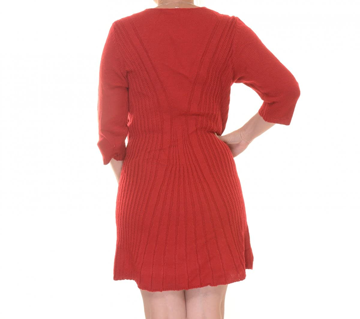 1d18c147531 Dresses NY Collection Petite Cable-Knit A-Line Sweater Dress Size PL  YSVD0304