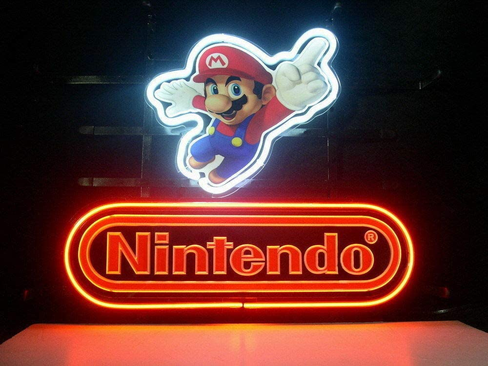"""Desung Brand New 17""""x13"""" N intendo SuperMario Neon Sign (Various sizes) Beer Bar Pub Man Cave Business Glass Neon Lamp Light DB234"""