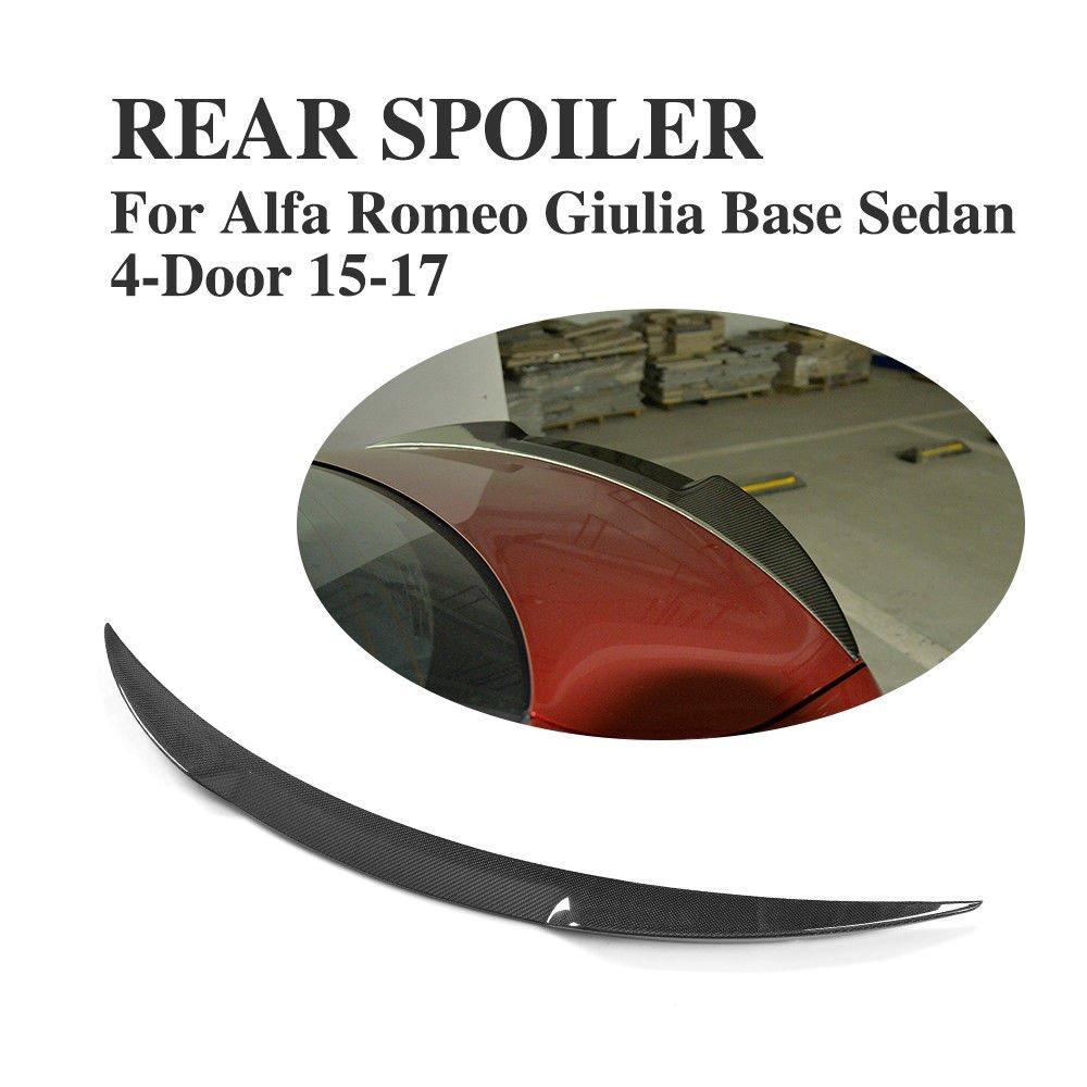 JC SPORTLINE Carbon Fiber Rear Trunk Spoiler fits Alfa Romeo Giulia Quadrifoglio Sedan 2015-2018