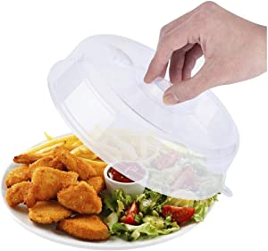 1 PC Food-Grade PP Fresh-Keeping Plate Serving Covers, Microwave Heating Sealing Cover Stackable Refrigerator Fresh-Keeping Cover Plastic Cover Bowl (6.7